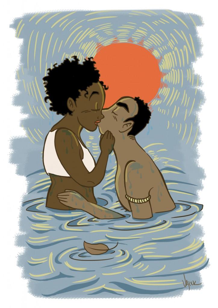 uma das ilustrações do livro: Dandara e Zumbi