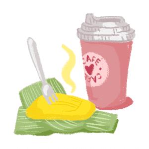 copo de café com pamonha