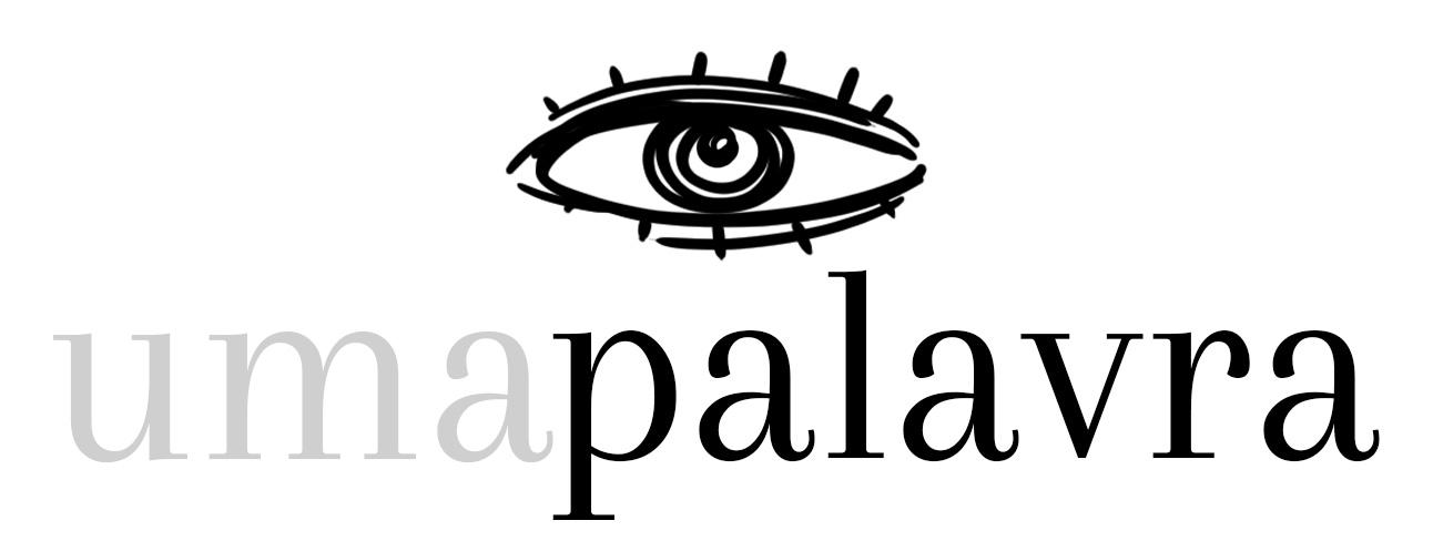 Logo da Newsletter Uma Palavra. O desenho de um olho acima das palavras.