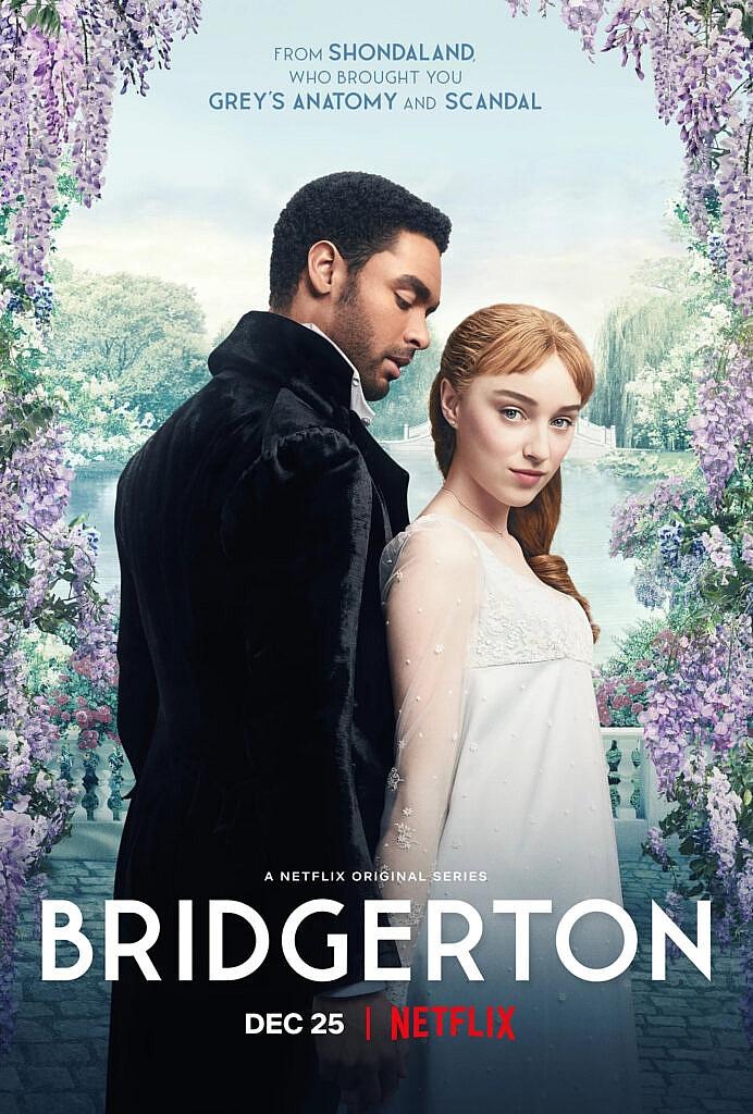 Capa da série Bridgerton, da Netflix.